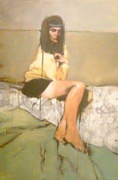 "Michael Carson ""Tan Lines"" 36"" x 24"" Oil on Panel"