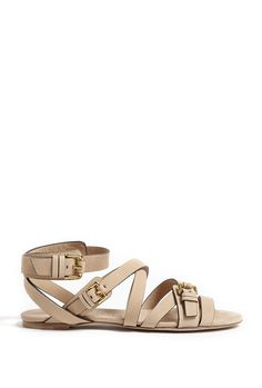 Aviator Cholmley Flat Sandal by Burberry Shoes