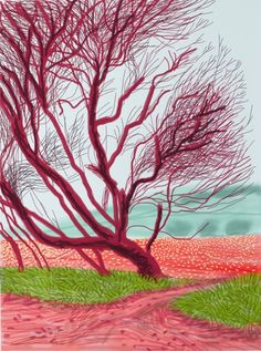 David Hockney (1937- ), British / The Arrival of Spring in Woldgate, East Yorkshire in 2011