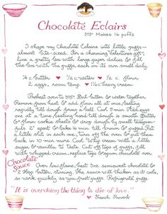 recipe from my favorite artist,   Susan Branch <3  www.susanbranch.com