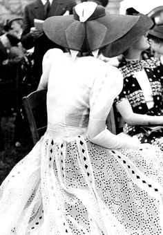 """elsaschrader: """" Photographed by Regina Relang at the races, 1938 """""""
