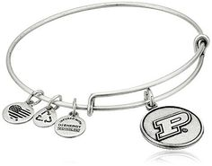 Alex and Ani Purdue University Logo Expandable Rafaelian Silver Bangle Bracelet *** Check this awesome product by going to the link at the image.