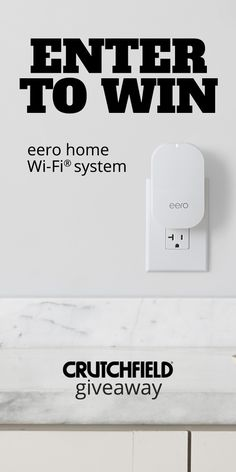 Win 1 of 2 Eero WiFi systems from @crutchfield #gggentry #sweeps http://swee.ps/DSTBASprZ