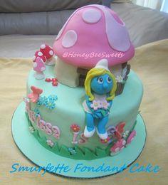smurfie cake - Google Search