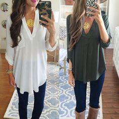 Fashion Women Long Sleeve Shirts Chiffon Blouse Casual V Neck Shirt Ladies Tops