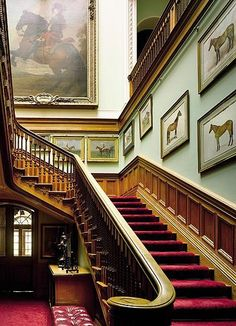 The splendour of the Royal Family's Sandringham estate has been captured on camera for the first time after the Queen and the Duke of Edinburgh allowed a photographer behind the normally closed doors of their Victorian country house. Grande Cage D'escalier, English Country Manor, English Style, French Style, Equestrian Decor, Equestrian Style, Sweet Home, Royal Residence, Windows
