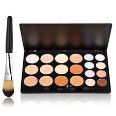 ROSENICE 20 Colors Contour Face Cream Comestic Concealer Palette with Makeup Brushes ** Learn more by visiting the image link. (Note:Amazon affiliate link)