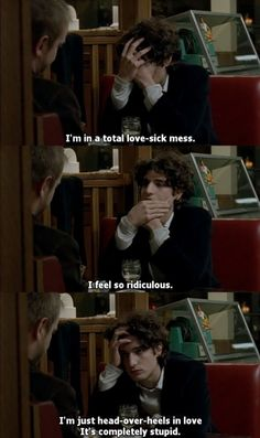 La belle personne (The Beautiful Person), 2008 French film directed by Christoph… La belle personne (The Beautiful Person), 2008 French film directed by Christophe Honoré Films Quotes, Angst Quotes, Tv Quotes, Mood Quotes, Famous Movie Quotes, Happy Quotes, Louis Garrel, Citations Film, Love Sick