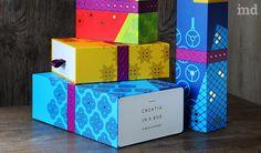 Яркий и красочный дизайн упаковки