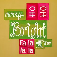 Love this idea for a blank wall space.  Could paint on letters, use cut vinyl or even stickers or rub-ons.