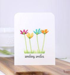 Hop Into Spring – Small Die of the Month Club - Keramik Projekte Karten Diy, Spellbinders Cards, Card Drawing, Small Cards, Greeting Cards Handmade, Easy Handmade Cards, Watercolor Cards, Card Kit, Kids Cards