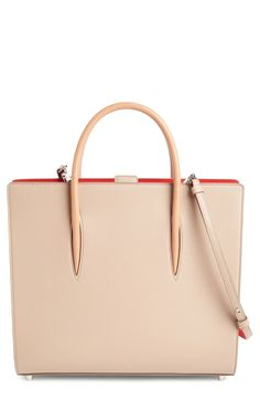 Christian Louboutin Large Paloma Empire Calfskin Leather Tote available at #Nordstrom