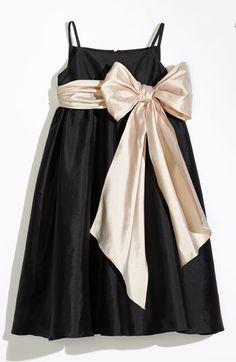 Us Angels Sleeveless Empire Waist Taffeta Dress (Toddler, Little Girls & Big Girls) | Nordstrom