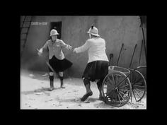 Laurel and Hardy dance to The Jean Genie by David Bowie