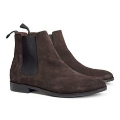 Leather Chelsea Boots - Dark Brown - $99.00 - H&M