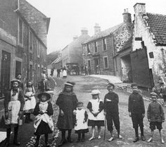Tour Scotland Photographs: Old Photograph Children Markinch Fife Scotland