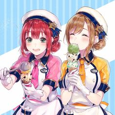 Ruby and Maru ice cream