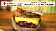 Here's an Hawaiian Burger, brought to you by Kamado Joe Food N, Good Food, Bbq Grill, Grilling, Hawaiian Burger, Ceramic Grill, Great Recipes, Favorite Recipes, Kamado Joe