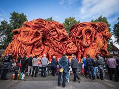 Amazing Flower Sculptures at the  Zundert Flower Parade in Netherland