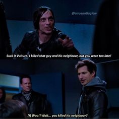 Brooklyn Nine Nine Funny, Brooklyn 9 9, Scary Terry, Cartoon Tv Shows, Dc Legends Of Tomorrow, Parks N Rec, Tv Show Quotes, Humor, Tumblr Funny