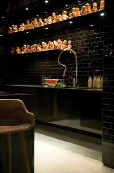 On the creepy side... Modern goth interior design. Drama - desire to inspire - desiretoinspire.net