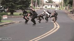 Skate board gang gifs gif cool images tricks skateboard awesome tricks stunts skateboard gifs outoors