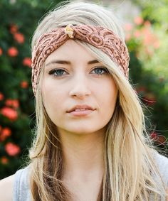 Love this Leto Collection Copper Knot-Accent Lace Headband by Leto Collection on #zulily! #zulilyfinds