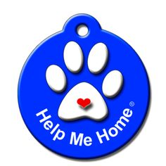 Help Me Home QR Code Pet ID Tag by BarkCode - Blue