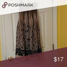 Fancy skiirt Elastic smooth upper, coffee tones Lapis Skirts Maxi