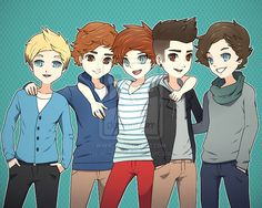 This is one of the cutest 1D drawings ever! :3
