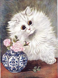 Louis Wain - Il dessinait ces chats pour divertir sa femme malade qui adorait les chats.