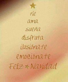 #Frases Ríe ama sueña disfruta ilusiónate emociónate #FelizNavidad Personalíza tus regalos con frases en Power Print