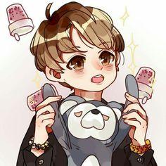2 Moons, Bass, Chibi, Illustrations, Anime, Illustration, Cartoon Movies, Anime Music, Animation
