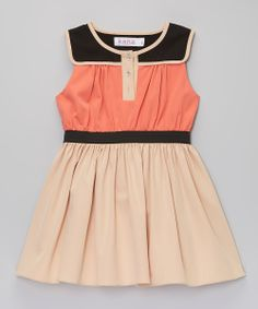 Nude Colorblock Chi-Chi Dress - Toddler & Girls | zulily