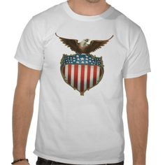 Vintage Patriotic American Flag and Bald Eagle T Shirts