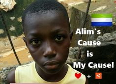 Meet TUESDAY'S CHILD, Ebola's orphan Alimany, age 7. Help Alim raise awareness #4EbolaOrphans in Sierra Leone. Pin me - ❤ me + share me 2 raise awareness 4 the 12,000+ Ebola orphans just like me.                SUPPORT ALIM'S cause FIND his friends & CREATE your own Board #4EbolaOrphans ! Mix it up with pins of your own - Get creative #4ebolaorphans & we'll feature every Board on our website to show our appreciation!