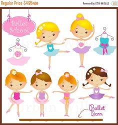 60%OFFSALE Ballet Belle 2 - 10 piece clip art set in premium quality 300 dpi Png and Jpeg files. LittlePumpkinsPix 1.98 USD