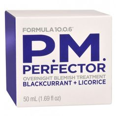Formula 10.0.6 P.M. Perfector, Overnight Blemish Treatment 50 mL