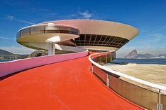 Museum of Contemporary Art in Niterói, near Rio de Janeiro by Oscar Niemeyer. Oscar died recently aged 104.