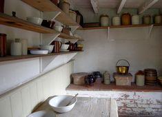 Black Country's Victorian Tilt Cottage larder pantry #victorianpantry #victorianlarder #vintagepantry Pantry Interior, Vintage Pantry, Manor Houses, Larder, Tilt, Built Ins, Interior Inspiration, Mermaid, Kitchen Cabinets