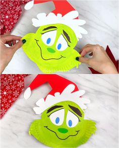 This Christmas, have a Grinch family movie night and make this paper plate Grinch craft! It's a fun and simple holiday activity that comes with a free printable template. Easy to make at home, school, or daycare! Movie Paper Plate Grinch Craft For Kids