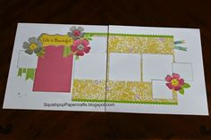 2nd layout using BRUSHED by SquishPop Papercrafts