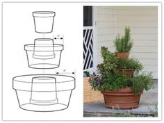DIY Stackable Flower Pots #Musely #Tip