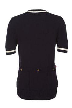 Alpe Deux - Merino Wool Jersey made in UK - Navy