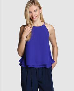 Top de mujer Easy Wear azul klein de tirantes