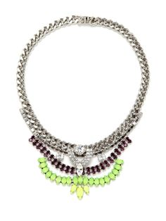ROBBIE: A staple necklace packed with a colorful crystal palette. MADE WITH LOVE IN NYC - See more at: http://www.courtneyleecollection.com