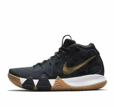 26fa32166afc Nike Kyrie 4 Mens Basketball Shoes 9.5 Pitch Blue Metallic Gold  Nike   BasketballShoes Adidas