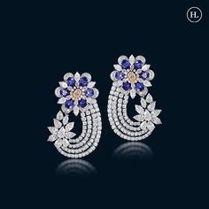 Real Diamond Necklace, Diamond Jewellery, Jewellery Rings, Emerald Earrings, Diamond Studs, Hazoorilal Jewellers, Jewelry Design, Jewelry Art, Gold Jewelry