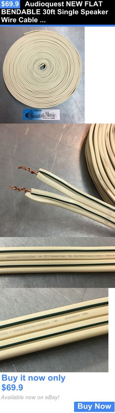 Audio Cables and Interconnects: Audioquest New Flat Bendable 30Ft Single Speaker Wire Cable Solid Surface Copper BUY IT NOW ONLY: $69.9