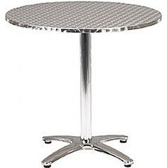 Aluminium Bistro Round Table  www.officefurnitureonline.co.uk